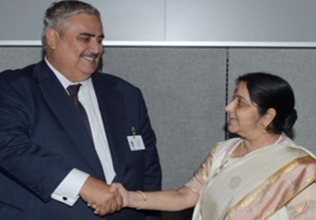 Foreign Minister Shaikh Khalid meets Indian counterpart in New York