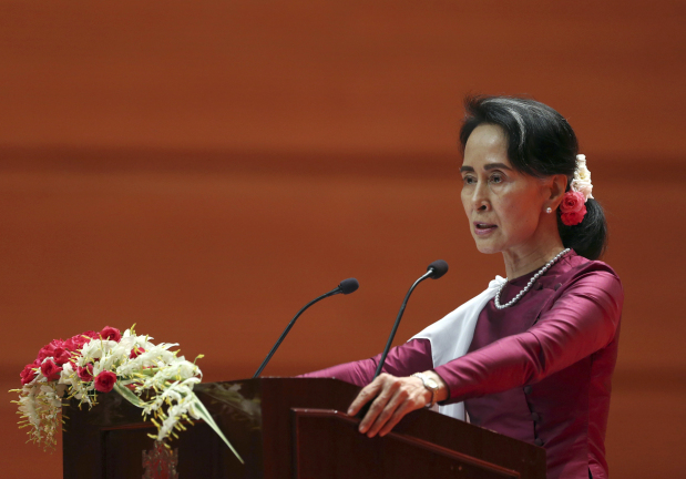 Defending Myanmar, Suu Kyi says most Rohingya villages calm