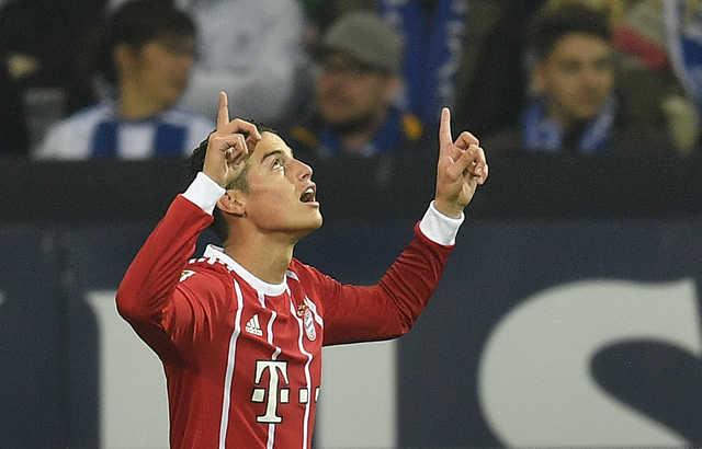Bundesliga: James stars for Bayern Munich against Schalke