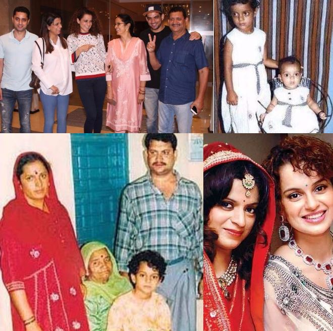 Vintage photos of Kangana Ranaut and her family