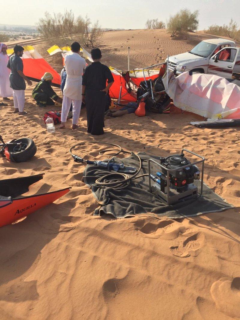 Man dies as light sport aircraft crashes in Al Qasim