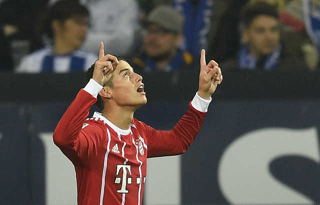 Bundesliga: James stars for Bayern Munich against Schalke
