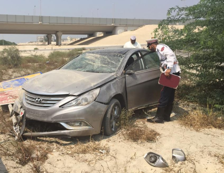 Bahraini girl injured in road accident on Zallaq Highway