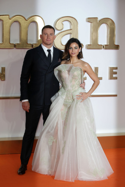 Hollywood Channing Tatum And Wife Jenna Dewan Shine At The Premiere Of Kingsman Golden Circle