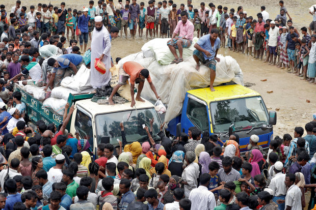 Nine die as Bangladesh truck carrying aid for Rohingyas crashes