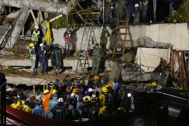 Mexican Navy says adult, not child trapped in school after quake