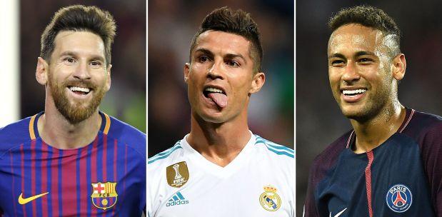 Neymar, Ronaldo and Messi shorlisted for Fifa award