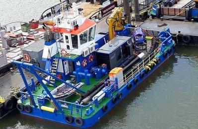 Damen equips Multi Cat for shallow water dredging