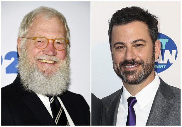 David Letterman among Jimmy Kimmel's guests during New York visit