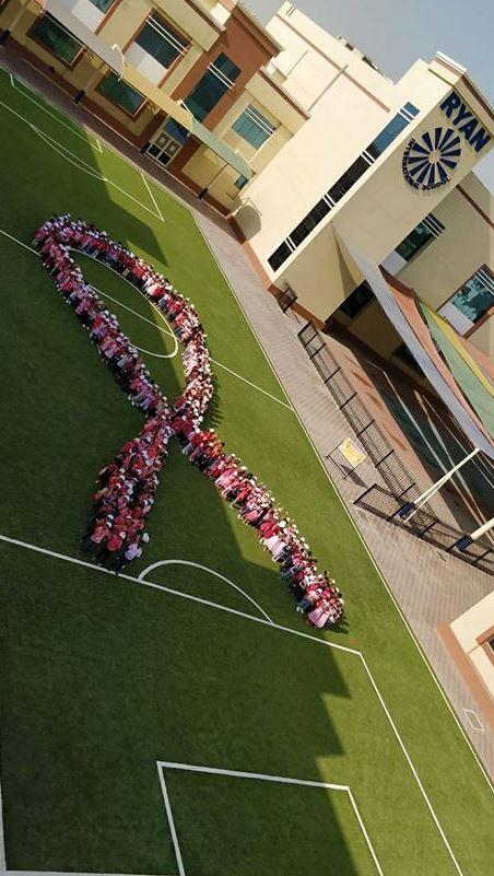 PHOTOS: School children raise breast cancer awareness