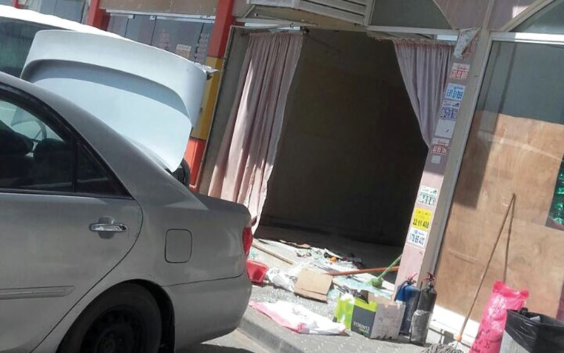 Asian man injured as 4WD rams into shop in Sharjah