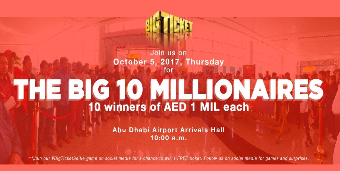 Eight Indians win AED1 million each in 'Big Ticket Draw'