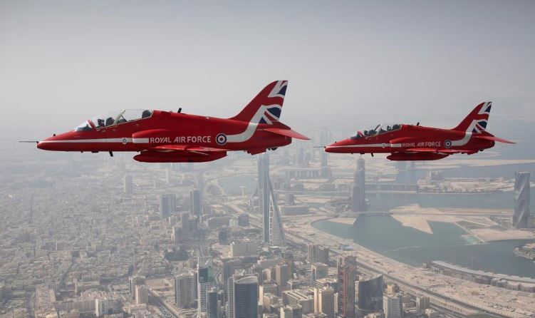 Bahrain News: VIDEO: Red Arrows put up spectacular show of