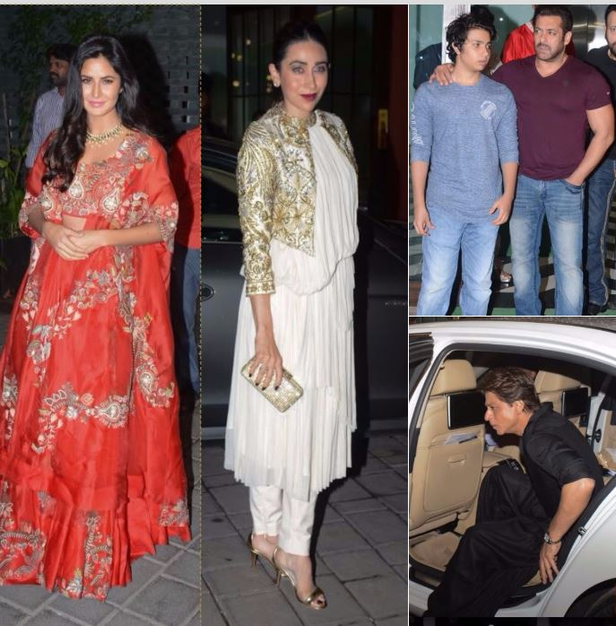 Bollywood: SRK, Shilpa, Katrina dress up for Salman Khan's sister's Diwali party!