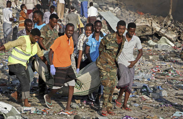 Death toll from bomb attacks in Somalia's capital rises to 85