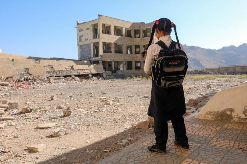 Classrooms in rebel-held Yemen shuttered on first day of school
