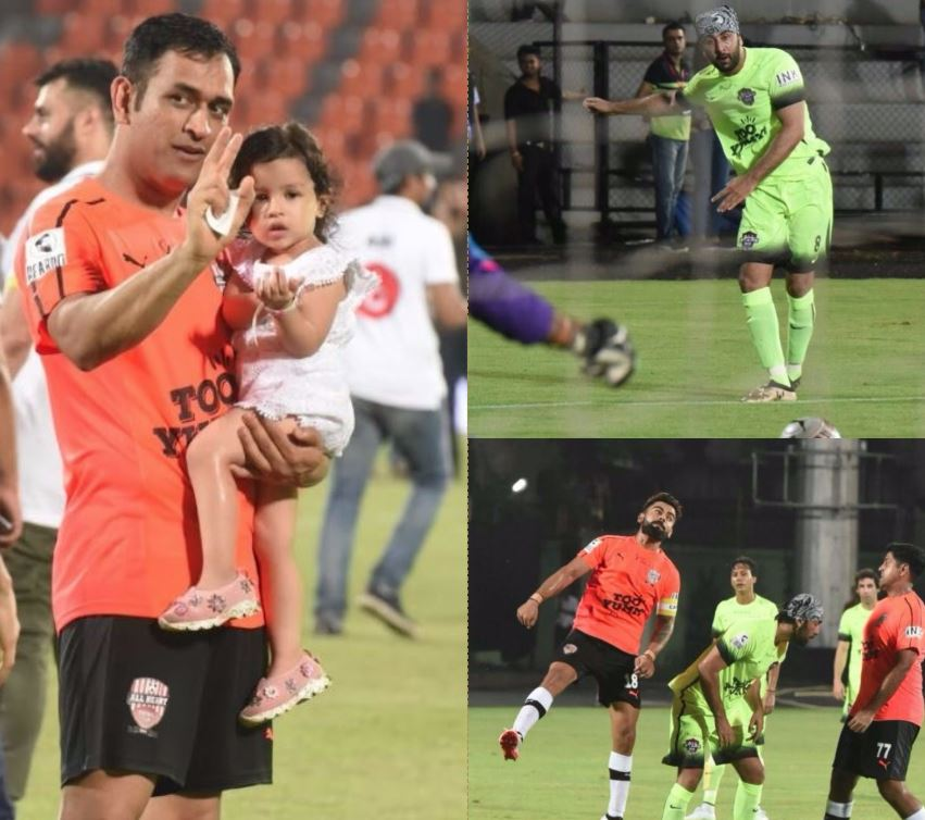 Bollywood stars and Indian cricketers faced-off on a football field, guess who won?
