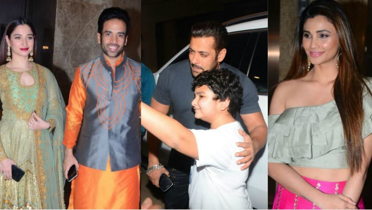 Salman, Tamannah 'light up' Ramesh Taurani's Pre-Diwali Party