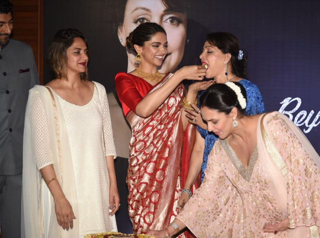 Photos: Deepika Padukone launches Hema Malini's biography