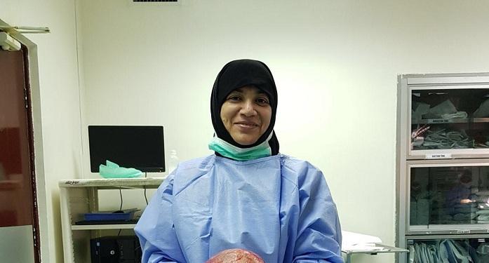 6kg tumour removed from Kuwaiti woman's uterus