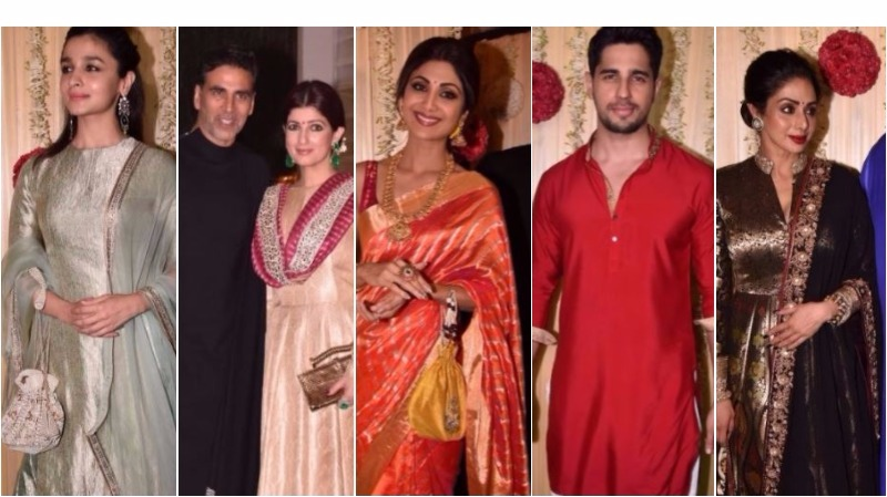 Stars dazzle with 'blingy' outfits at Ekta Kapoor's Diwali bash