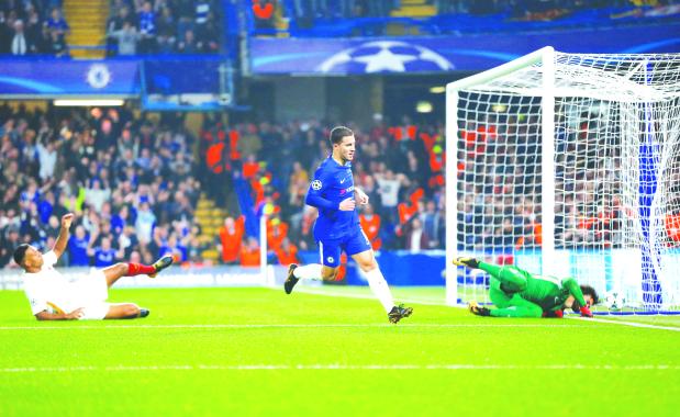 Champions League: Hazard rescues Chelsea