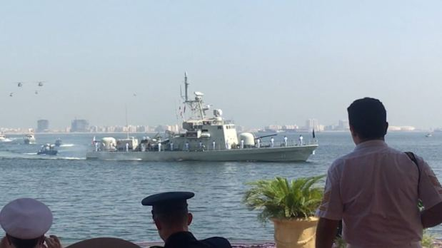 Upgraded naval vessel ready for mission...