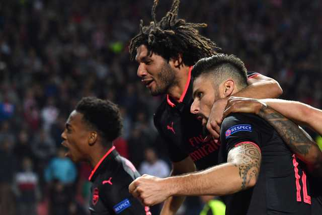 Europa League: Giroud's overhead kick gives Arsenal 1-0 win at Red Star