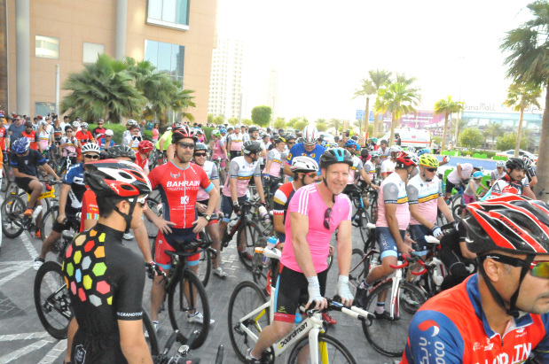 Cyclists raise BD4,825 for Think Pink Bahrain