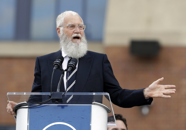 No joke: TV host Letterman honoured with Mark Twain Prize