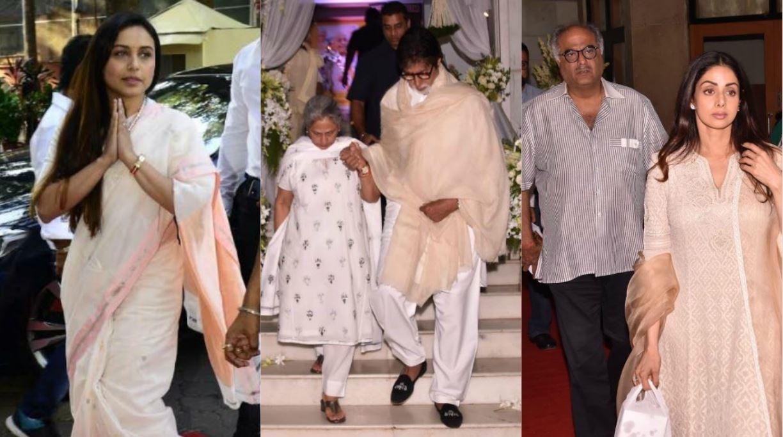 Bollywood stars pay tribute to Rani Mukherjee's father at prayer meet