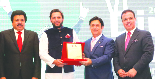 Afridi receives Lifetime Achievement Award