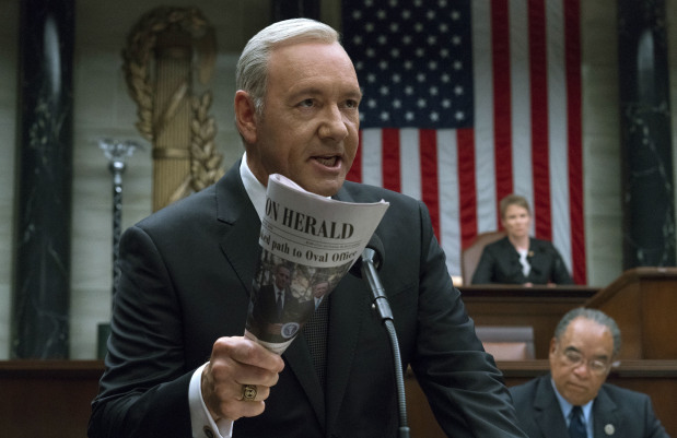 Netflix suspends filming 'House of Cards' amid Kevin Spacey accusations