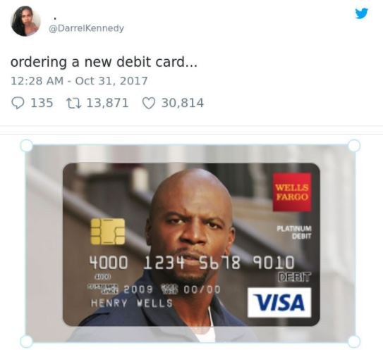 HILARIOUS exchange as girl gets actor Terry Crews' approval to put his face on her debit card