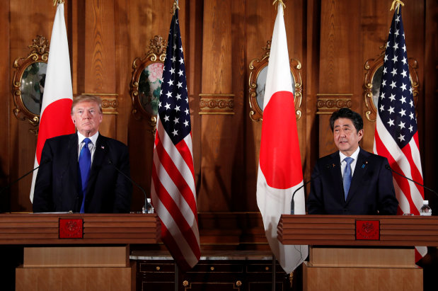 Trump says wants reciprocal trade with Japan to lower trade deficit