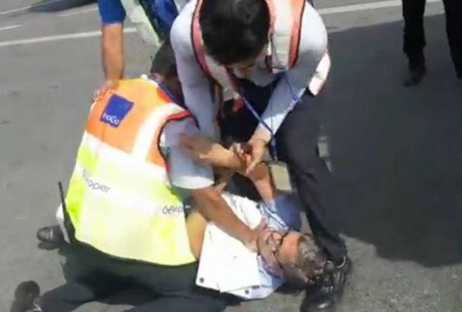 VIDEO: Airline staffer manhandles passenger 'to teach him a lesson'