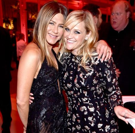 'Friends' star Aniston makes TV return with Witherspoon