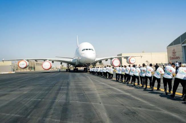 Dubai Police set world record for pulling heaviest plane