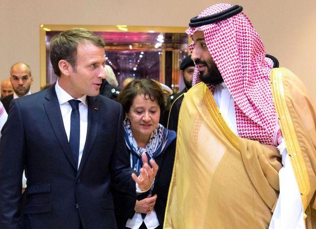 Macron blames Iran for Saudi missile attack