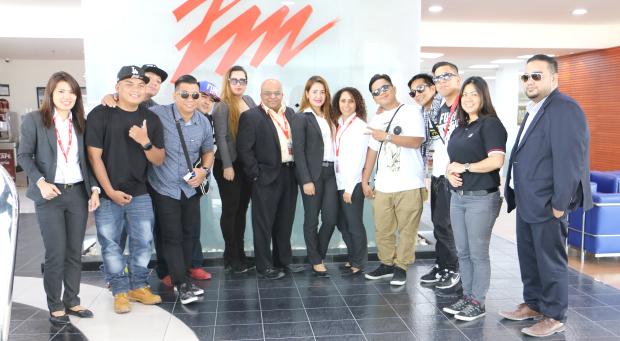 Photo Gallery: Band members visit Zayani Motors showroom