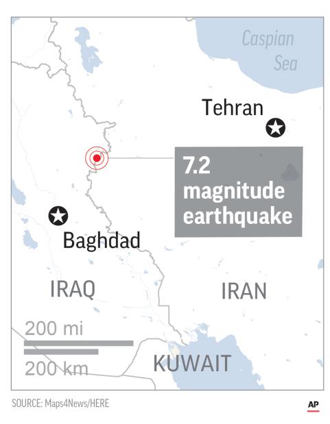 Strong earthquake hits Iraq-Iran border area, six killed in Iran