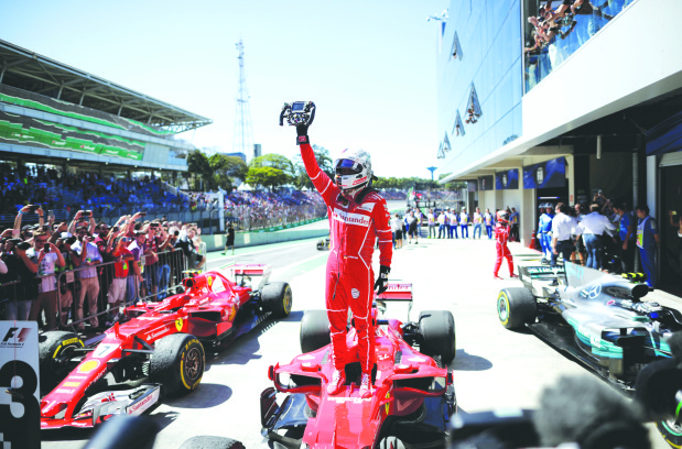 Vettel bounces back with Brazilian GP victory