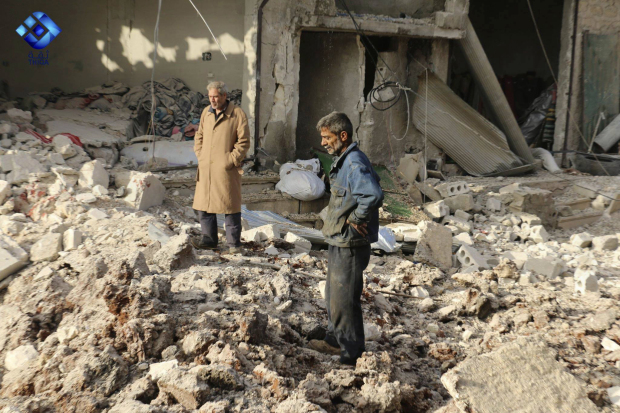 Airstrike on rebel-held Syrian town kills 21