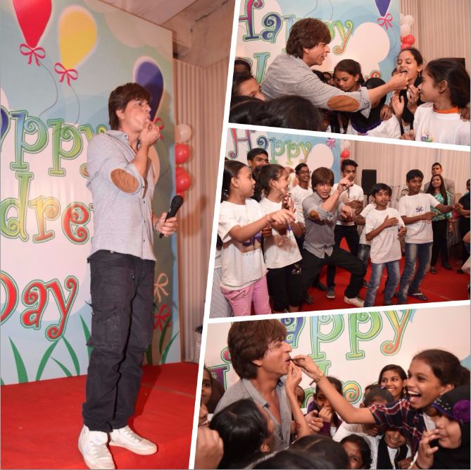 In Pictures: SRK spends Children's Day with young fans