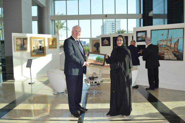Bahraini artist showcases work at Art at the Harbour exhibition