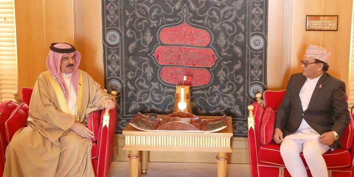 His Majesty King Hamad receive new ambassadors