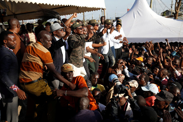 Kenya: Police fire in air to disperse supporters of Odinga