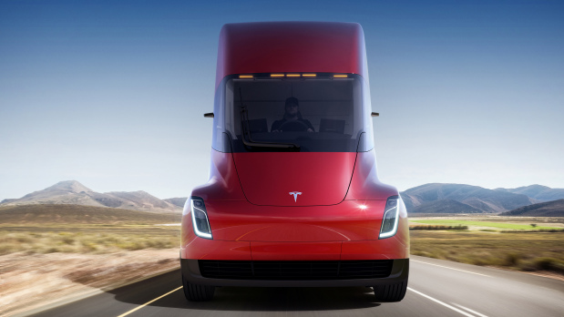 PICTURES: Tesla unveils its all-electric semi truck