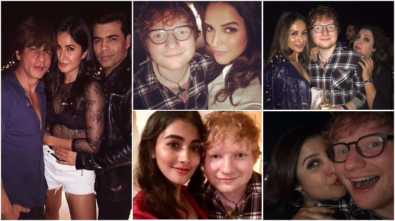 Bollywood: PICTURES  & VIDEOS: Ed Sheeran shows off cute Bollywood dance moves at party
