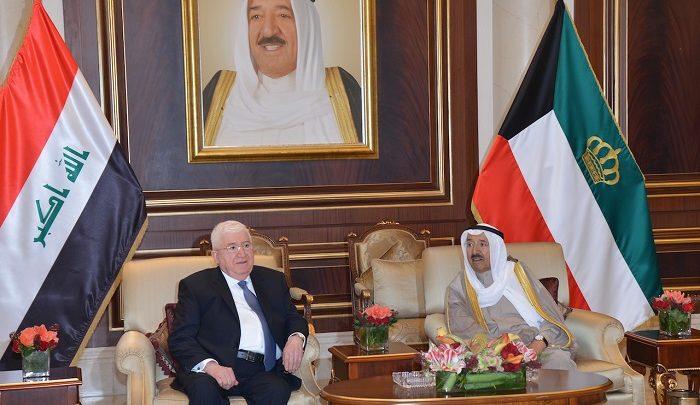Kuwaiti leader and Iraqi president hold talks